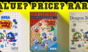 Bubble Bobble Master System Banner Value Price Rare