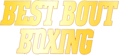 Best Bout Boxing Arcade Game by Jaleco 1994 Title Logo Screen