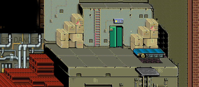 Map Stage 3 Background Without Characters Double Dragon Arcade Game Beat em Up by Technos 1987
