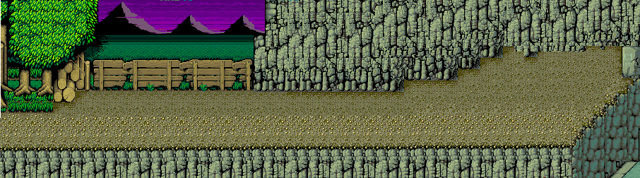 Map Stage 6 Background Without Characters Double Dragon Arcade Game Beat em Up by Technos 1987